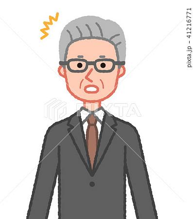 スーツ 驚くシニア男性 41216771
