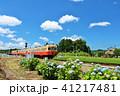 晴れ 電車 小湊鉄道の写真 41217481