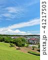 青空 晴れ 住宅街の写真 41217503