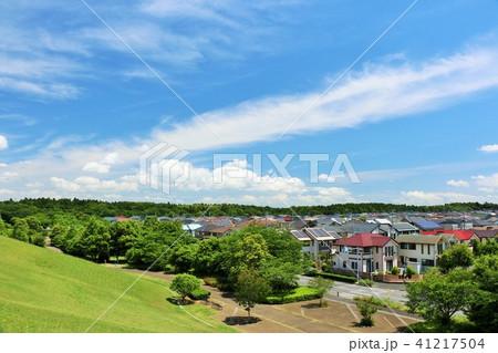 爽やかな青空の街並み 41217504