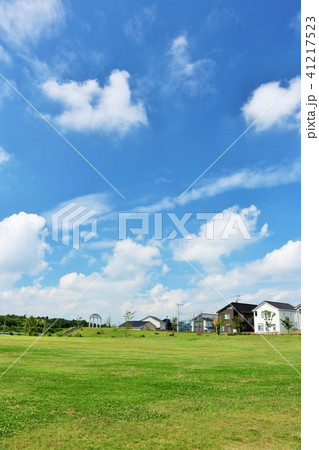 爽やかな夏の青空と街の公園 41217523