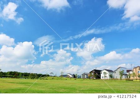 爽やかな夏の青空と街の公園 41217524