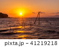 長部田海床路 夕暮れ 海の写真 41219218