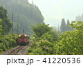 只見線 新緑 電車の写真 41220536