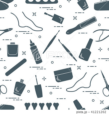 Pattern of manicure and pedicure tools and 41221202