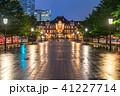 東京駅 丸の内駅舎 雨天の写真 41227714