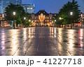東京駅 丸の内駅舎 雨天の写真 41227718