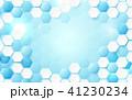 六角形 抽象的 青のイラスト 41230234