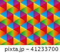 カラフルでポップな幾何学模様の背景イラスト 41233700
