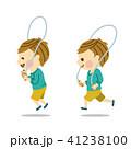 縄跳び 男の子 飛ぶのイラスト 41238100