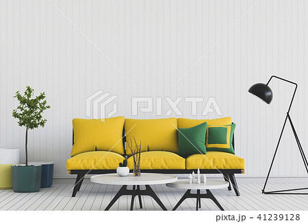 Living room interior in modern style, 3d render 41239128