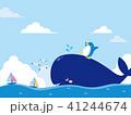 クジラとペンギンのイラスト 41244674