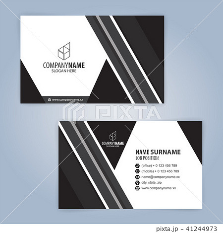 black and white modern business card templateのイラスト素材