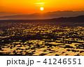 《富山県》水鏡の水田・砺波平野の朝景《医王山より》 41246551