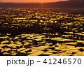 《富山県》水鏡の水田・砺波平野の朝景《医王山より》 41246570