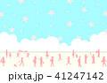 桜 青空 シルエットのイラスト 41247142