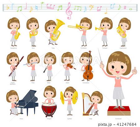 Straight bangs hair women_classic music 41247684