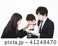 両親と子ども 入園式 41248470