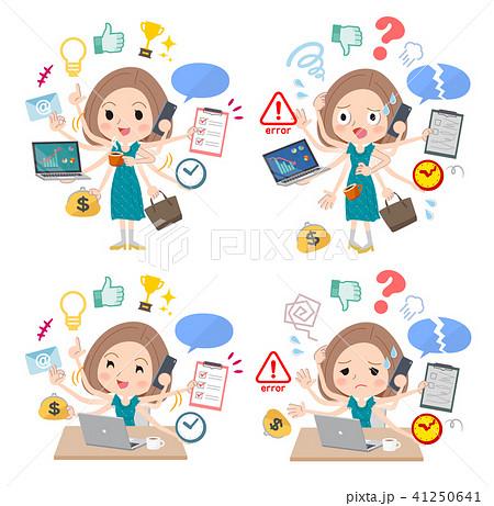 Bob hair green dress women_mulch task Office 41250641