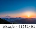 《静岡県》富士山の朝景 41251491