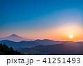 《静岡県》富士山の朝景 41251493
