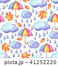 雨 紅葉 くものイラスト 41252220