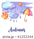 雨 紅葉 くものイラスト 41252244
