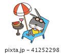 夏休み ビーチ うさぎのイラスト 41252298