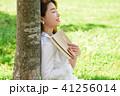 若い女性 若い女 休憩の写真 41256014