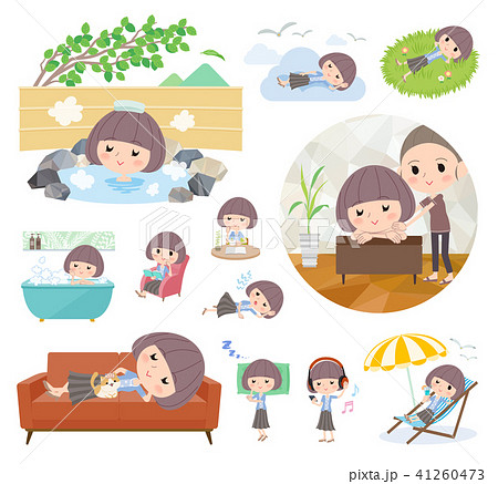 Mash hair blue cardigan women_relax 41260473