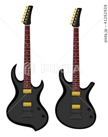 Modern electric guitars. Flat design 41262939