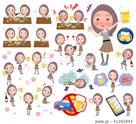 Long hair women_alcohol 41265943