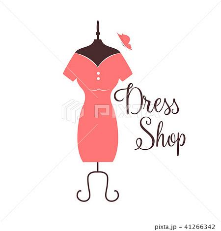 women fashion logo design template dress emblemのイラスト素材