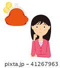 女性 お金 考えるのイラスト 41267963