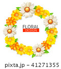 Flower wreath of spring wildflowers. Summer 41271355