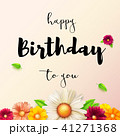 Happy birthday floral lettering design. Birthday 41271368