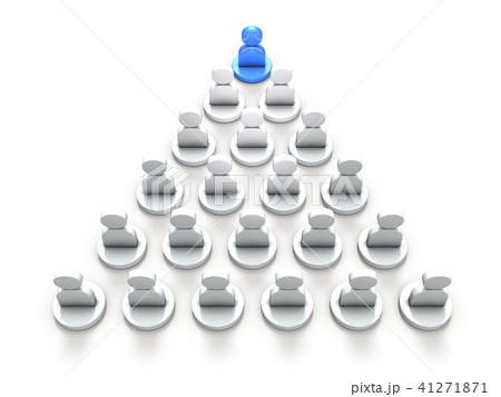 リーダーシップを表すアブストラクト3DCGイラスト 41271871