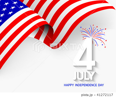 fourth of july independence day of the usa のイラスト素材 41272117