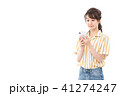 スマートフォン スマホ 女性の写真 41274247