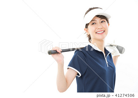若い女性 ゴルフ 41274506