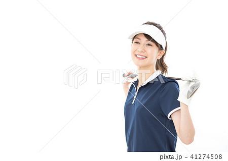 若い女性 ゴルフ 41274508
