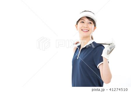若い女性 ゴルフ 41274510