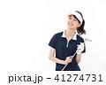 ゴルフ ゴルファー 女性の写真 41274731
