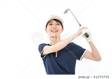 若い女性 ゴルフ  41274745