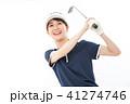 若い女性 ゴルフ  41274746