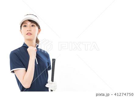 若い女性 ゴルフ 41274750