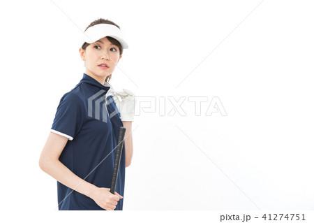 若い女性 ゴルフ 41274751