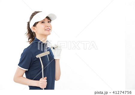 若い女性 ゴルフ 41274756