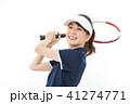 テニス 女性 人物の写真 41274771