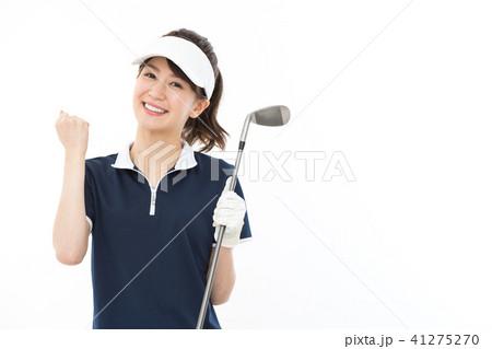 若い女性 ゴルフ 41275270